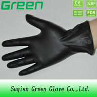 single onyl use disposable protective Beauty black vinyl gloves