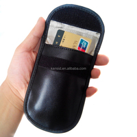 PU leather cell phone anti-tracking anti-spying GPS RFID signal blocker pouch case