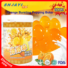 Taiwan Hot Selling Bubble Tea Orange Flavor Bursting Juicy Ball Popping Boba Supplier