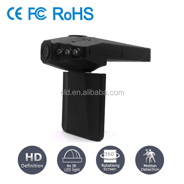 Mini SD Card Slot Motion Detection Full HD Camera For Car Dashboard