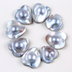 25mm pearl size sweat heart shape of pearl gray wholesale mabe pearls