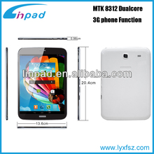 Private Design, Flash Lamp, MTK8312 Dual Core/2G/BT/GPS//FM/ Two SIM Tablet PC, New Model !!!