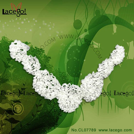 Hot Sale High Quality Free Sample Flower Lace Collar Motif