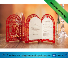 New design elegant wedding invitation card with cute laser cut