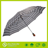 Chinese windproof pongee auto open men large folding umbrella