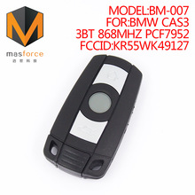 Remote control auto smart card car key for BMW CAS3 3button 868MHz PCF7952 transponder chip FCCID:KR55WK49127