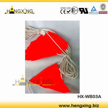 HX-WB03A orange safety flag with white rope