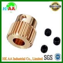 Custom design high precision printer gear, brass small 3D printer driving gear