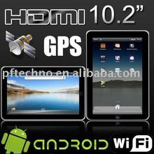 10 inch gps tablet PC Android 2.2 HDMI touch screen