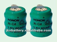 Button Cell 1.2v 40mah nimh Button Battery