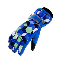 Personalized silicone printing nylon winter gloves for women