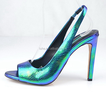 Hot sale glitter shiny leather spike high heel bridal wedding shoes