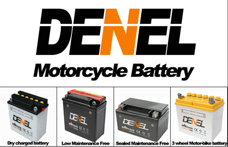 DENEL  motor tricycle 12v motorcycle battery
