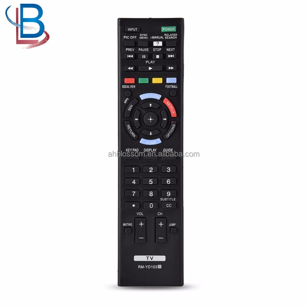 Smart LED LCD TV Replacement RM-YD103 TV Remote Control For Sony TV OB