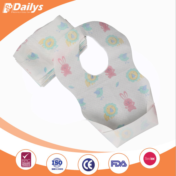 Cheap paper disposable baby bibs