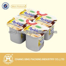 Easy peelable roll plastic PP/PET/PS/PE cup container sealing film for jelly,yogurt