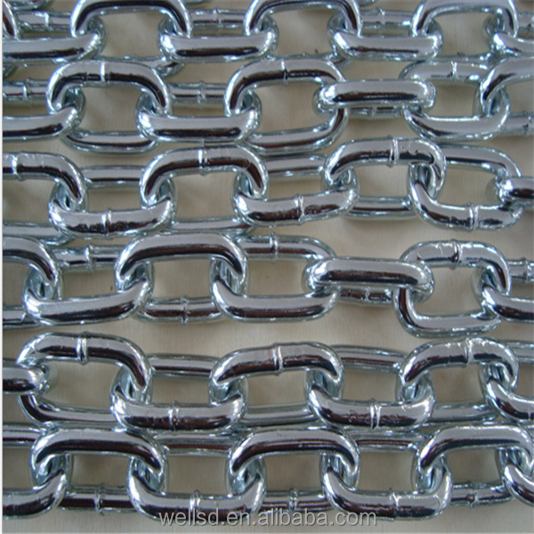 China Gold Manufacturer 2-32mm DIN763 long Link Chain