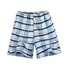 <strong>Men</strong> check leisure board shorts surf summer sexy beach shorts