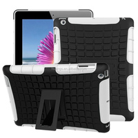 Luxury Hybrid heavy duty armor hard shockproof kickstand for ipad 4 / 3 / 2 tablet made in china