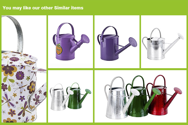 Pink decorative garden oval metal watering can wholesale