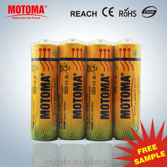 1.5V Zinc Chloride battery AA size R6P battery