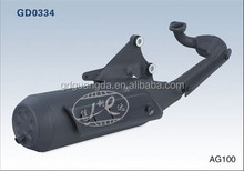 AG 100 motorcycle exhaust muffler for 50cc performance scooter exhaust