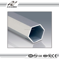 best quality 25mm aluminum groove hex tube