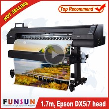 Best selling Funsunjet FS1700K1.7m used sticker printing machine for flex banner with dx5 dx7 heads 1440pdi