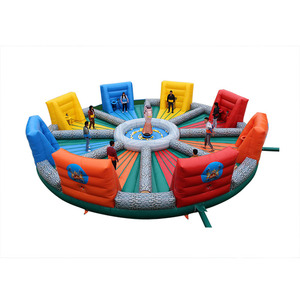 Kids adults play interactive carnival game bungees running sports hungry hippo chow down inflatable game