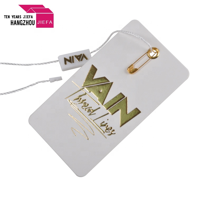 Embossed Logo Customized Brand Garment Hang Tag
