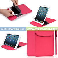 Leather pouch Slim stand tablet bag for iPad mini 2 premium PU sleeve for iPad mini 2