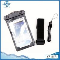 multi-colour pvc phone waterproof case for samsung note 2