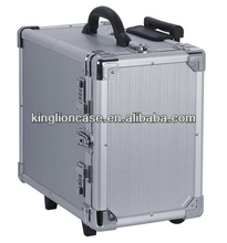 12 trays aluminum travel trolley jewelry case KL-TC031
