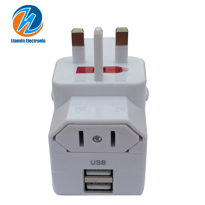 <strong>electrical</strong> conversion plug socket with USB All in one EU USA AUS UK
