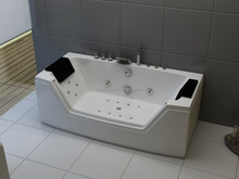 Clear glass bathtub rectangular spa bath freestanding hot tub