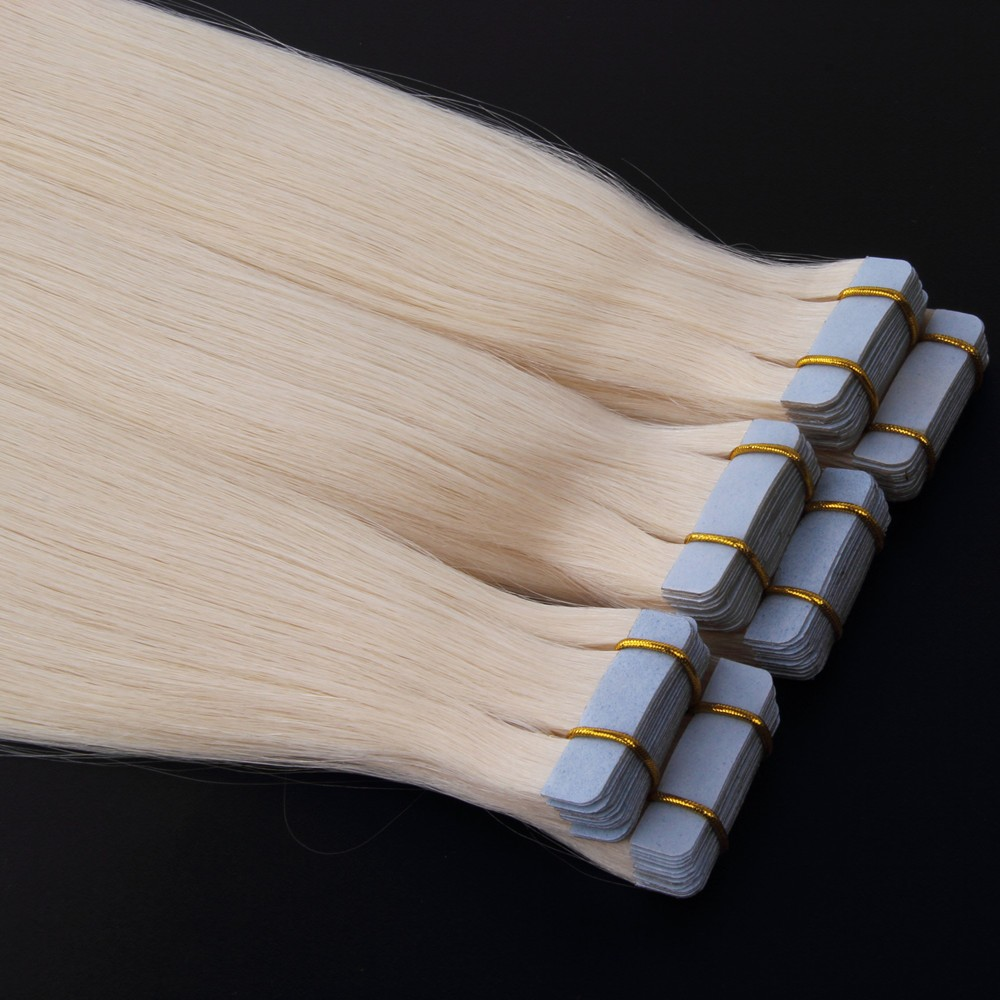 Highest grade human remy hair tape extensions
