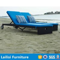 Outdoor rattan sex recliner sand sunbed covers plastic pool lounge chairs