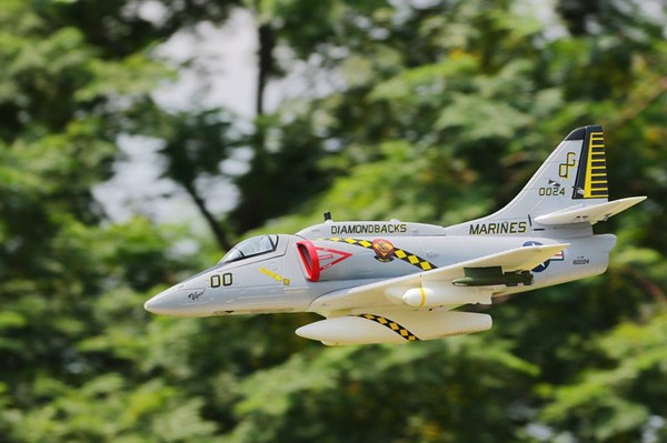 Blitz rc works new a4 skyhawk model plane