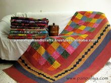 Tribal Applique work kantha quilts,handmade designer handmade kantha quilts and throws