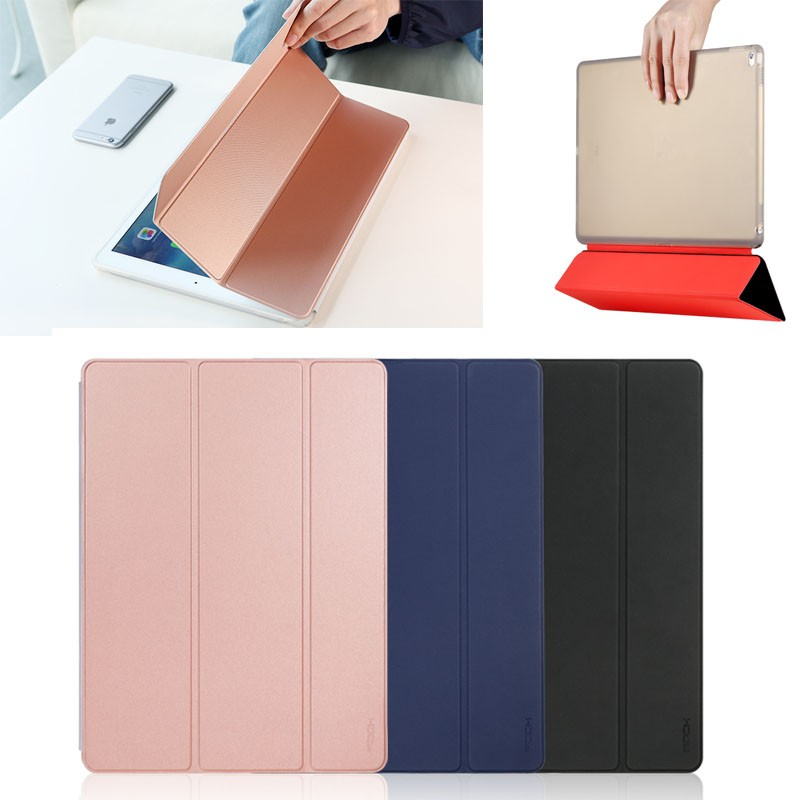New ROCK Three Folding Leather with TPU tablet case for ipad pro 12.9 inch