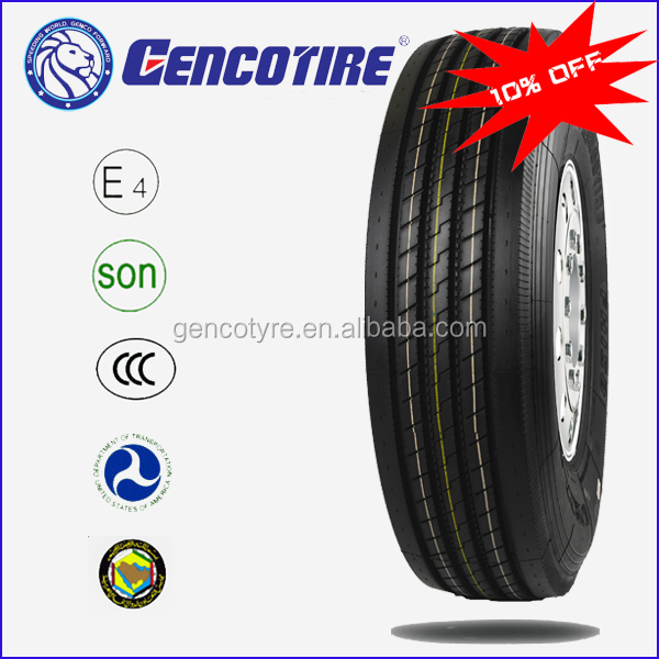 High quality truck and bus tire Tubeless GENCOTIRE TBR 11R22.5 11-22.5 11X22.5 tires tyres
