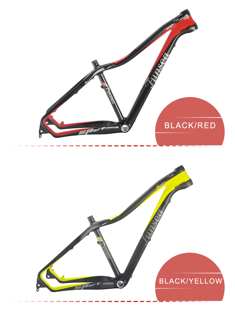 "Chinese 15""/17""/19""/21"" rear space 197mm snow fatbike bicycle frame T700 carbon fat bike frame for fatbike 26""/27.5"""