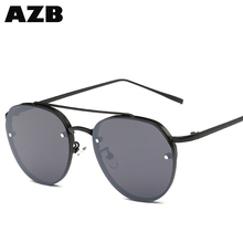 AZB Hot selling sunglasses Retro Pilot Oversized Sunglasses Women Summer Beach Alloy Aviation Sun glasses made in China