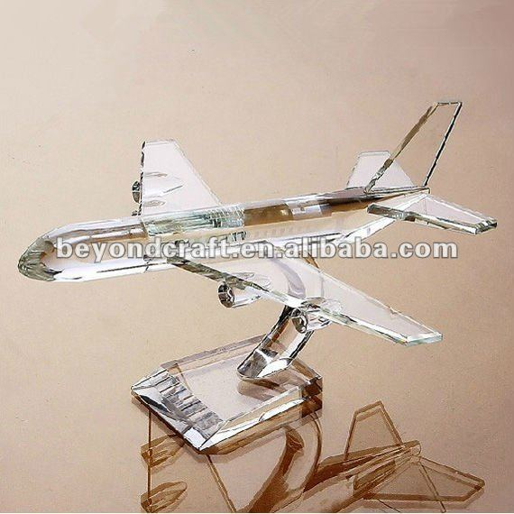 crystal plane for airway gifts as models for souvenirs