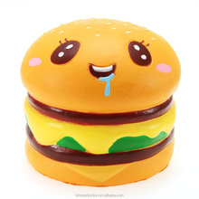 2017 New Design Wholesale Slow Rising Hamburger Squishy Toy