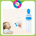 BPA free food grade silicone spill-proof baby feeding bottle spoon