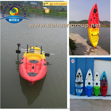 Single fishing kayak with motor