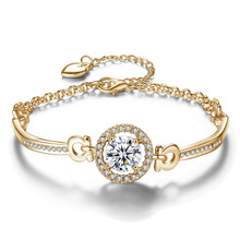 Afghanistan Jewelry Plated White Gold AAA Cubic Zirconia Plated 18K Gold Bangle