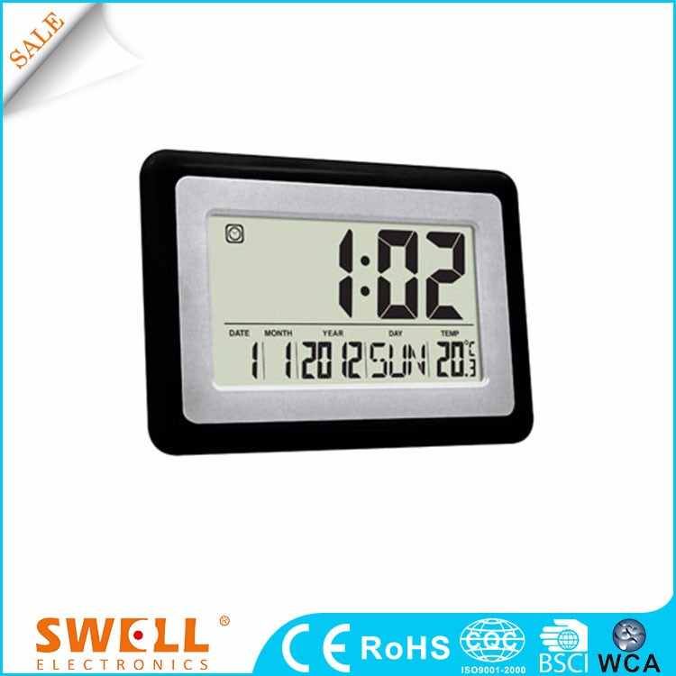 Cheap digital wall clock with temperature and humidity display