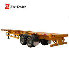 Simple Transfer Sufficient Strength Frame 40Ft Skeleton Trailer